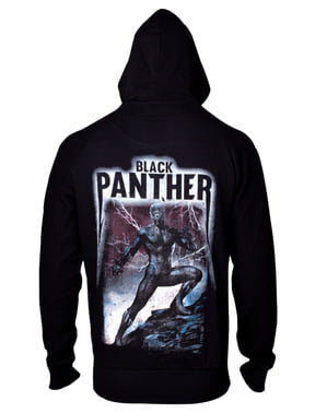 Black Panther Big Back Print Sweatshirt für Herren