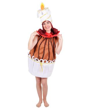 Disfraz de tarta de cumpleaños para mujer