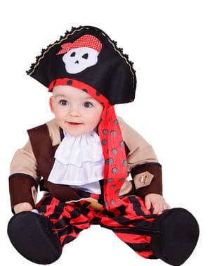 Disfraz de pirata rojo para bebé
