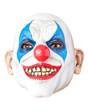 Horrorclown Maske blaue Rauten
