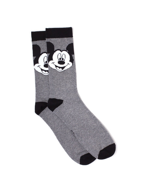 Black and white Mickey Mouse socks