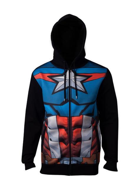 Sweat Captain America Costume homme