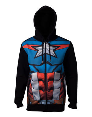 Sweat Captain America Costume homme
