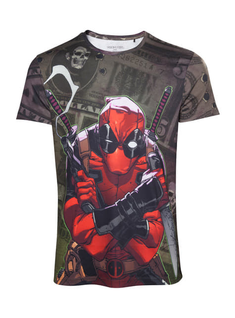 Deadpool Dollar Bills T-Shirt for men