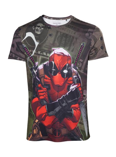 T-shirt de Deadpool Dollar Bills para homem