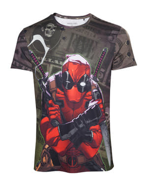T-shirt de Deadpool Dollar Bills para homem
