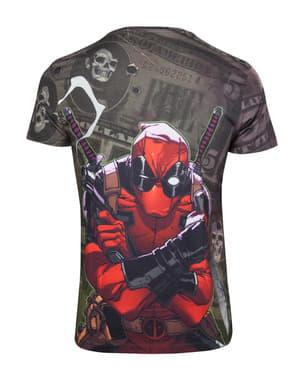 שטרות של דולר Deadpool בחולצת טריקו לגברים