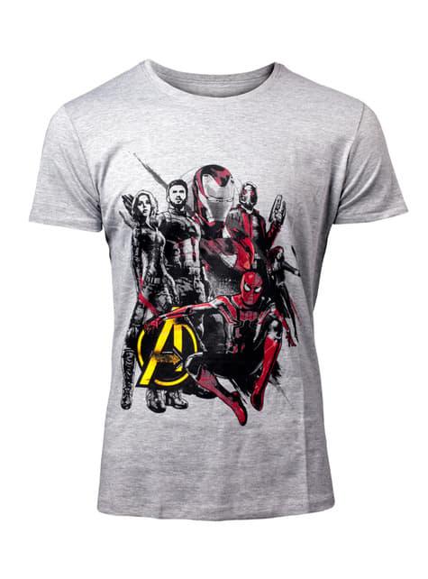 Camiseta Los Vengadores: Infinity War gris para hombre