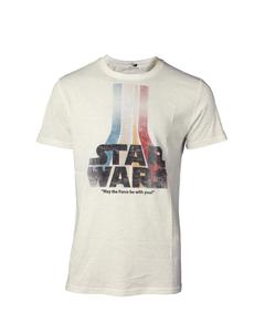 d22733a1c4b7 Pánské triko s duhovým retro logem - Star Wars