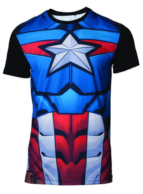 T-shirt Capitão America Fato para homem