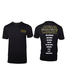 Pánské triko seznam postav - Star Wars 3e74ecb557