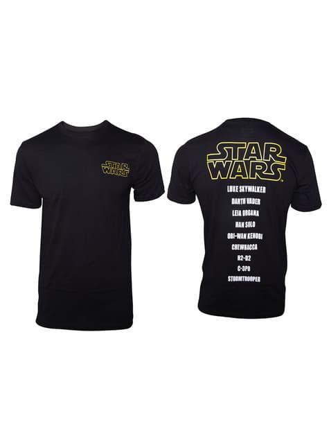 Camiseta Star Wars Nombres Personajes para hombre