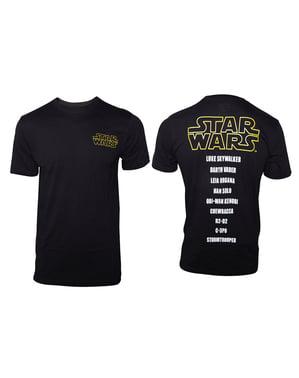 Star Wars Karakter İsimleri Erkekler İçin Tişört