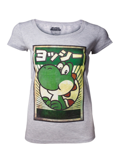 Yoshi in Japanese t-shirt for women Super Mario Bros