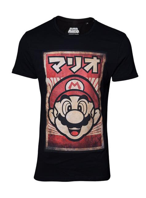 Mario in Japanese t-shirt - Super Mario Bros