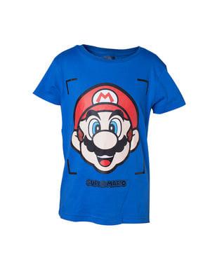 Erkekler için Blue Mario tişört