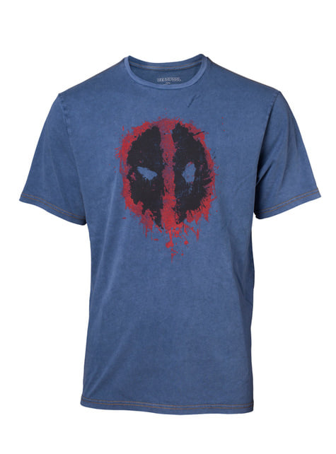 Deadpool Logo Denim T-Shirt for Men – Marvel