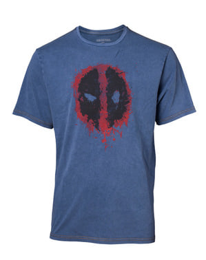 T-shirt denim Logo Deadpool para homem - Marvel