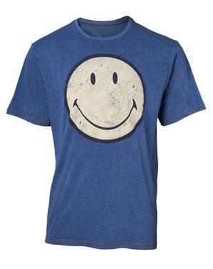 Camiseta Smiley Logo denim para hombre