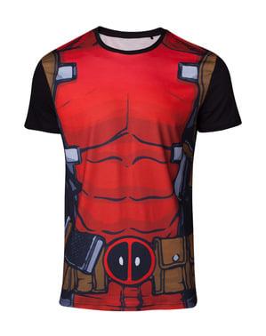 T-shirt Deadpool kostym vuxen