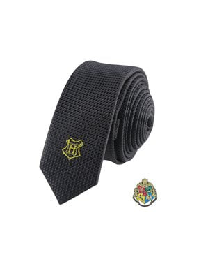 Pack corbata y pin Hogwarts caja deluxe - Harry Potter