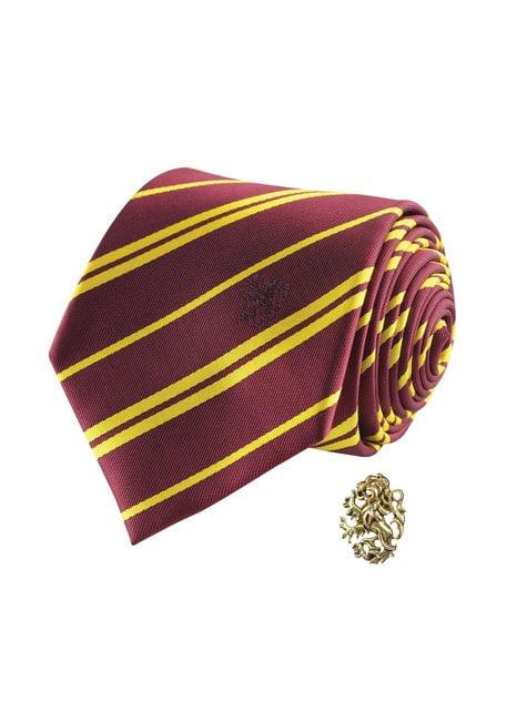 Pack gravata e pin Gryffindor caixa deluxe - Harry Potter