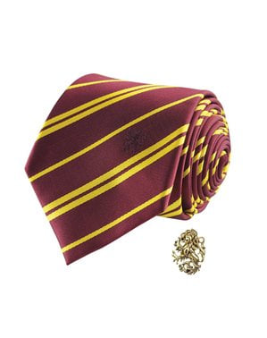 Gravata de Harry Potter e pin Gryffindor