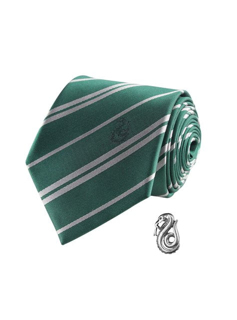 Pack corbata y pin Slytherin caja deluxe - Harry Potter