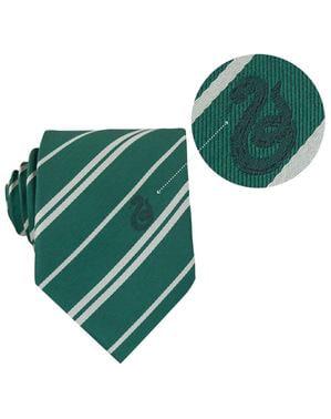 Luxusní sada kravaty a brože Zmijozel - Harry Potter