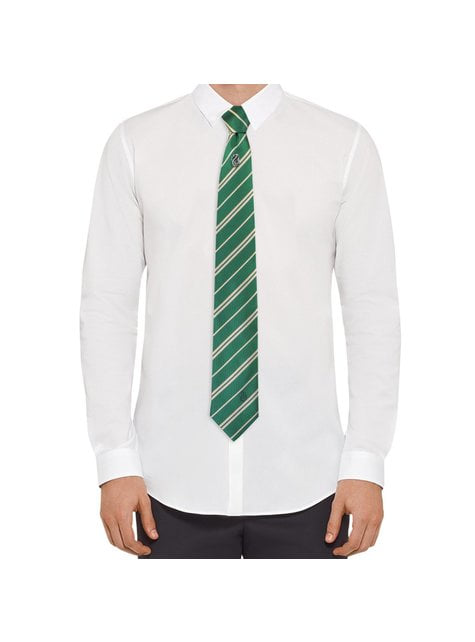 Slytherin Krawatte und Button Set deluxe - Harry Potter