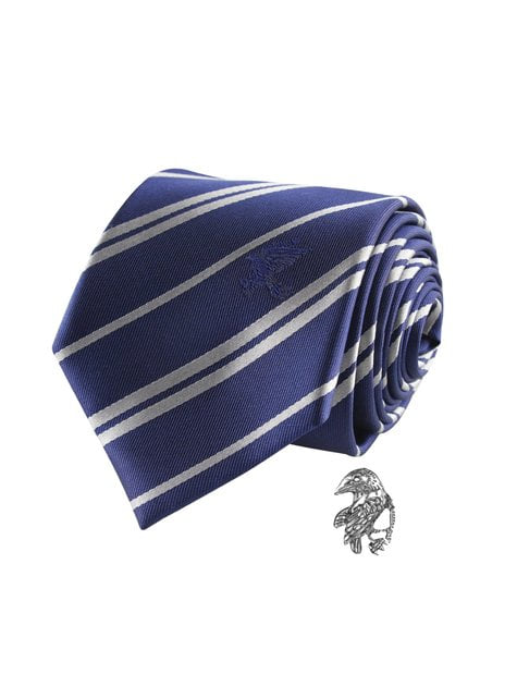 Ravenklauw stropdas en speld deluxe set- Harry Potter