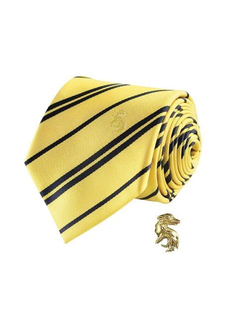 Pack corbata y pin Hufflepuff caja deluxe - Harry Potter