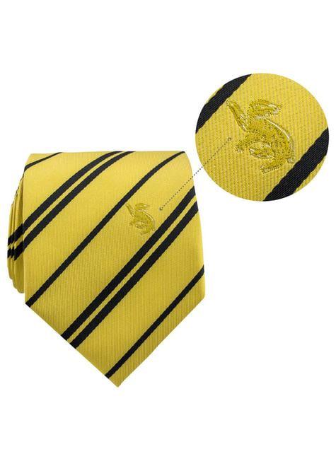 Pack gravata e pin Hufflepuff caixa deluxe - Harry Potter