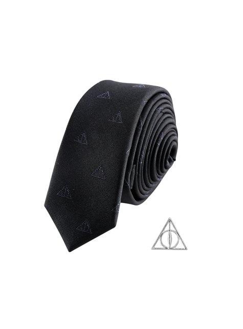 Pack corbata y pin Las Reliquias de la Muerte caja deluxe - Harry Potter
