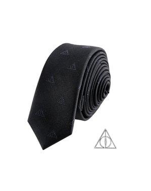 Pack Cravate et badge Les Reliques de la Mort boîte deluxe - Harry Potter