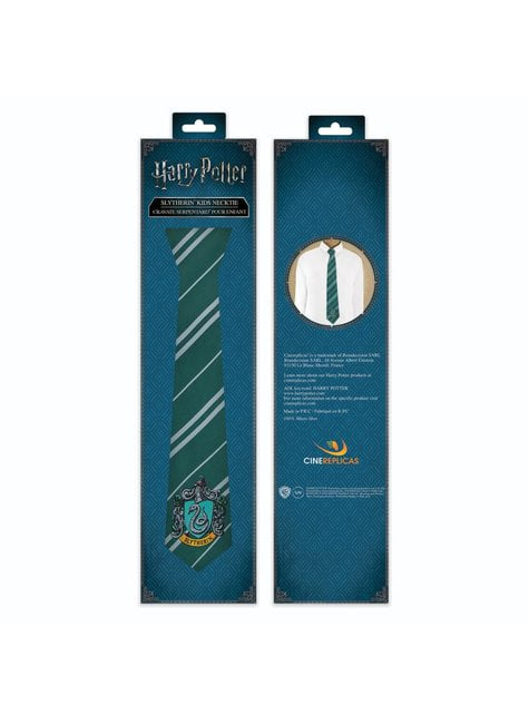 Corbata Slytherin para niño - Harry Potter - barato