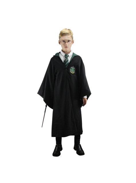Túnica de Slytherin Deluxe para menino (Réplica oficial Collectors) - Harry Potter