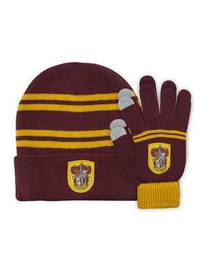 Gryffindor beanie hat and gloves set for kids - Harry Potter