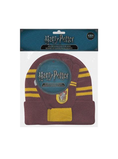 Pack de gorro y guantes Gryffindor infantil - Harry Potter - el más divertido