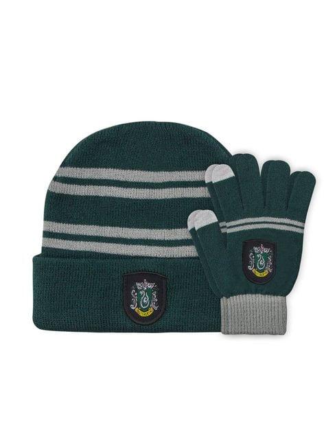 Slytherin Mütze und Handschuh Set für Kinder - Harry Potter