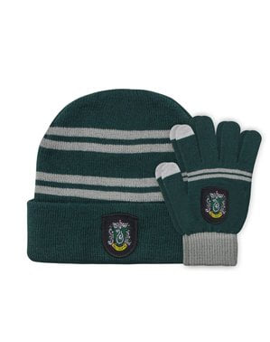 Pack de gorro e luvas Slytherin infantil - Harry Potter