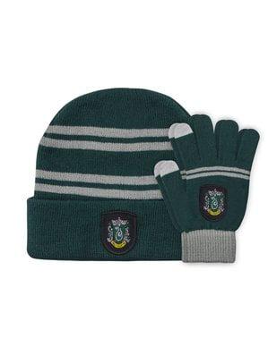 Zestaw czapka i rękawiczki Slytherin dziecięce - Harry Potter