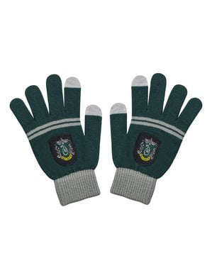 Slytherin beanie hat and gloves set for kids - Harry Potter