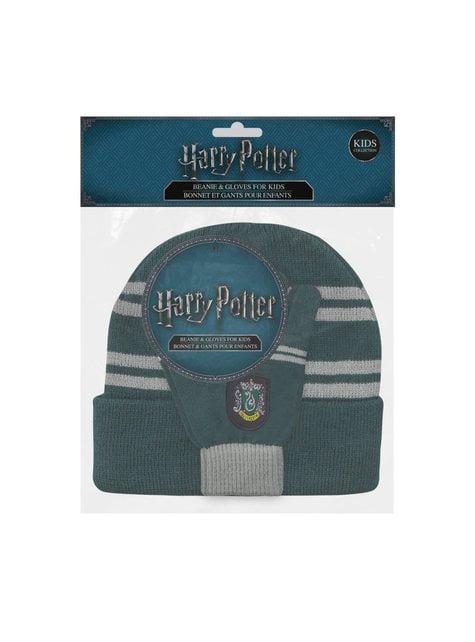 Pack de gorro e luvas Slytherin infantil - Harry Potter