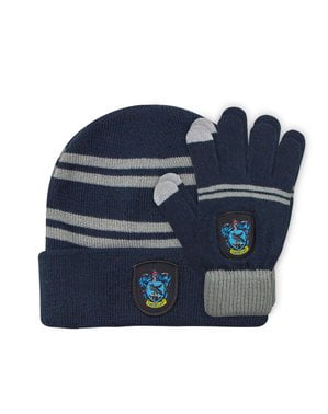 Ravenclaw beanie hat and gloves set for kids - Harry Potter