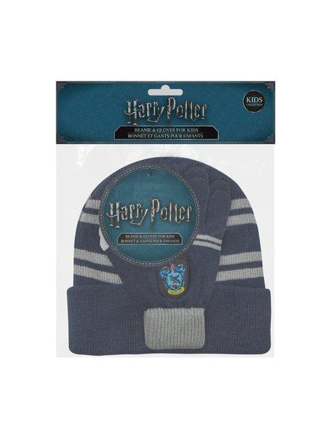 Pack de gorro e luvas Ravenclaw infantil - Harry Potter