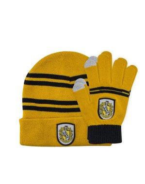Harry Potter Hufflepuff hat og handske sæt til børn