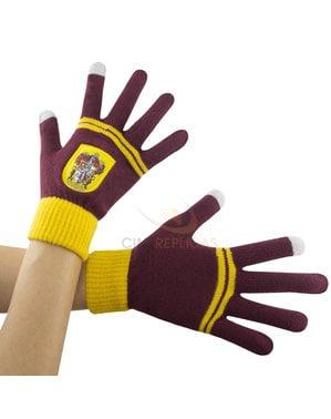 Bordeauxrode Griffoendor tactiele handschoenen - Harry Potter