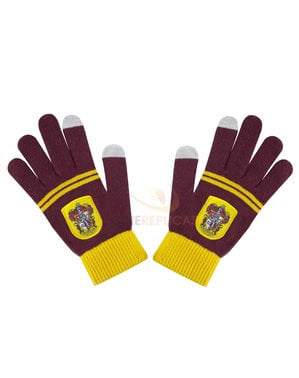 Maroon Gryffindor tactile gloves - Harry Potter