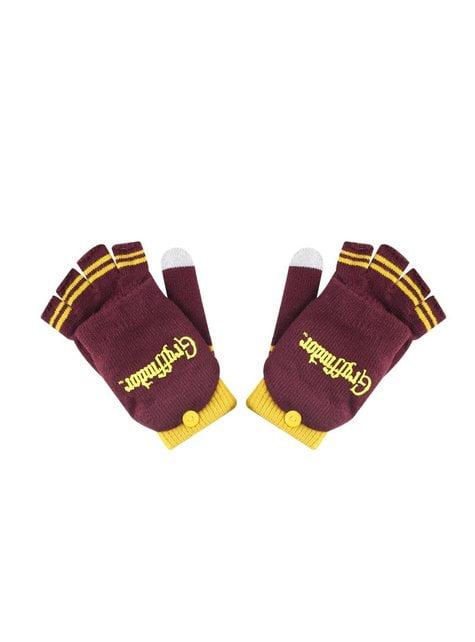 Rękawiczki z jednym palcem Gryffindor haftowane - Harry Potter